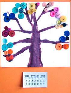 Rainbow Creations - Art and Craft for Children - Blog: Make Your Own Calendar - Kid's Craft Activity