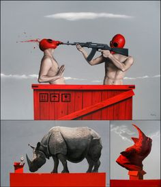 Zheng Hong Xiang / Look in Art Max Ernst, Eye Candy, That Look, Statue, Artist, Movie Posters, Painting, Image, Design