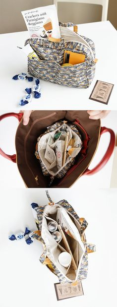 It's the worst when your purse is so messy you can't find anything. So, treat yourself with the Liberty Purse Organizer! With all 8 of its pockets and compartments & the zipper closure, there's plenty of space for your cosmetics, gadgets, and snacks! Cotton lining and extra padding will keep your belongings safe. Switching up your purse? The attached handles make this adorably patterned organizer super easy to transfer between bags! Check it out and never lose things in a messy purse again!