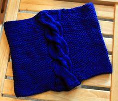 Berlin Cowl, knit  in Baah Shasta Worsted Yarn