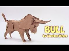 how to make an origami bull wie man eine Origami-Stier machen comment faire un taureau origami como fazer um touro origami cómo hacer que un toro de origami . Origami Lion, Origami Owl Keychain, Origami Butterfly, Origami Animals, Useful Origami, Origami Easy, Diy Projects Origami, Origami Christmas Ornament, Origami Flowers Tutorial