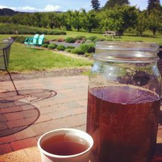 Sipping on Lavender Mint Water! Organic & delish! Boil 2 cups water, add 4 Tblsp #culinarylavender 2 tablespoons honey. Simmer 20 minutes. Add more water to make a gallon. Add fresh mint or fruit. #yummy #lavenderfarm #organic #englishlavender #delish #foodie