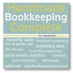 Handmade Bookkeeping Complete - Etsy Bookkeeping - Savings Package