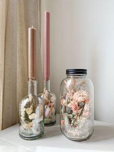Dried Flower Arrangements, Dried Flowers, Diy Vintage, Flower Bottle, Decoration Plante, Ideias Diy, Deco Floral, Diy Home Decor, Diy And Crafts
