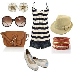 Summer Casual...not sure I could pull off the fedora, but I'd give it a shot! :)