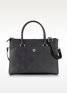 7cb0f38ffabc MCM Black Elda Saffiano Leather Medium Tote on shopstyle.com