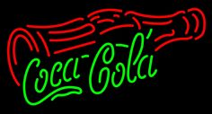 Coca Cola With Cross Bottle Neon Sign