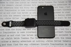 Black and Grey Sport Apple Watch Band, All Apple Watch Straps available at SpartanWatches.com - Top Apple Watch Bands Store