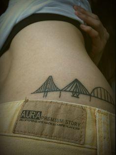 Mumbai, San Francisco, and Pohang bridge tatoo - my homes!!