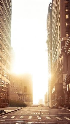 New York Empty Street #iphone #wallpaper