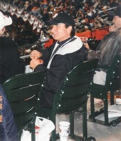 Steve Perry at the Giants game. He's waiting for me , Patiently.