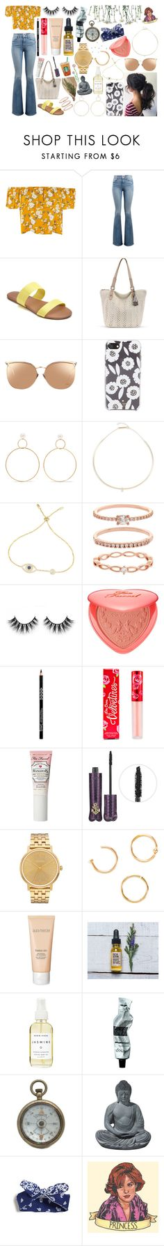 """""""princess"""" by gnarlycarly99 ❤ liked on Polyvore featuring Frame, LC Lauren Conrad, Linda Farrow, Kate Spade, Natasha Schweitzer, ZoÃ« Chicco, Accessorize, Too Faced Cosmetics, Lime Crime and tarte"""