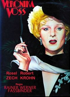 Veronika Voss (Rainer Werner Fassbinder, 1982), this homage to 'Sunset Boulevard' (1950) is loosely based on the real career of Sybille Schmitz, an actress popular during the Nazi era struggling in the 1950s. Find this at 791.43743 VER