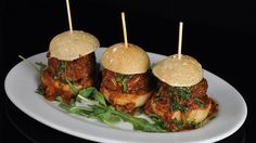 Michael Symon feasts on meatball sliders at his favourite brunch spot in the Big Apple. Meatball Sliders, Whole Wheat Pancakes, Michael Symon, Brunch Spots, Good Burger, Meat Lovers, Healthy Eating Recipes, Tortilla Chips, Recipe Of The Day