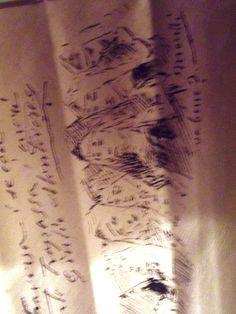 """Particolare del ventaglio """"Libro d'oro"""". China firmata da Domenico Morelli"""