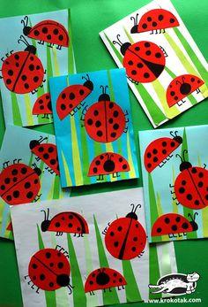 Bastelideen Ladybug Crafts for Kids Tips On Cleaning A Mattress Article Body: A good mattress is an Spring Art Projects, Spring Crafts For Kids, Summer Crafts, Art For Kids, Ladybug Art, Ladybug Crafts, Kindergarten Art, Preschool Crafts, Kids Crafts