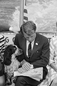 Robert F. Kennedy and His Dog