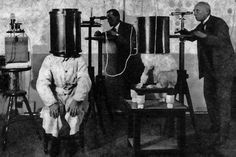 German animal psychologist Karl Krall conducting research on telepathy between dogs and humans in 1920