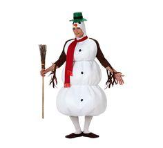 disfraz de mueco de nieve para hombre talla ml ud incluye