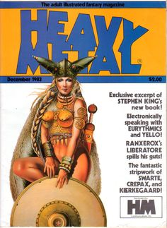 Heavy Metal - December 1983 - Cover by Chris Achilléos
