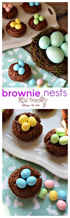 Easy to make Brownie Bird Nest for a spring or Easter kid friendly treat - great dessert for Easter http://www.kidfriendlyhthingstodo.com