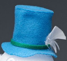 how to make a snowman hat out of felt - Google Search