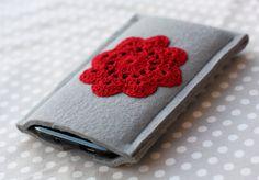 crochet smart phone cover