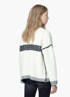 Cardigan en laine texturé