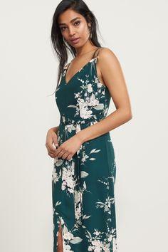 Long Floral Halter Dress with Embellishment Blouse 5160b76b895