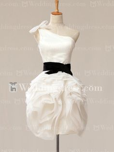 I like everything except the tie up top. Short Beach Wedding Dress