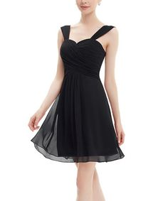 Another great find on #zulily! Black Ruffle Cocktail Dress #zulilyfinds