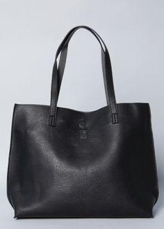 Pebble Vegan Leather Tote & Crossbody Bag from BrooklynIndustries.com $78