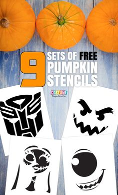 Get in the Halloween spirit by carving some pumpkins. Check out these awesome, and free, pumpkin carving stencils that feature some of your favorite characters from Disney, Marvel and more! Printable Pumpkin Stencils, Halloween Pumpkin Carving Stencils, Free Stencils, Halloween Pumpkins, Fall Halloween, Pumpkin Template, Halloween Tombstones, Disney Halloween, Halloween Themes
