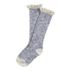 Ladeda Girls Lace Top Knee High Boot Sock