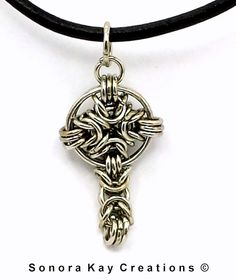 Celtic Byzantine Chainmaille Cross in by SonoraKayCreations