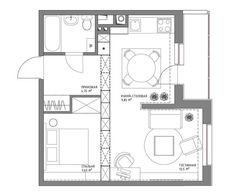 13 Best small apartment plan images | Small apartment plans, Small ...