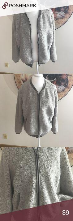 Bomber jacket gray Gently used. Bomber jacket. Old Navy Jackets & Coats Utility Jackets