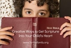 How do you get your children excited about studying God's word? Here are some creative tips to get them interested in studying God's word...