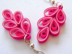 OOAK+Chinese+Button+Paper+Quilled+Earrings+de+Filigree+Delights+sur+DaWanda.com