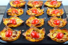 Recipe of the Day: Lasagna Cupcake with Roasted Veggies
