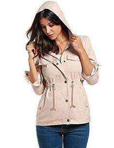 Meaneor Womens Military  Anorak Safari Jacket. Price: $ 29.99