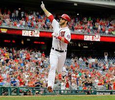 Bryce Harper Washington Nationals. First at bat homer a free missing 31 games