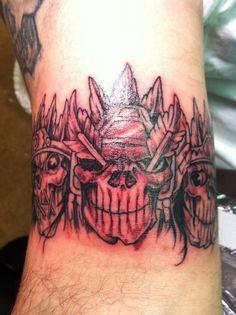 Skull Back Tattoo . 40 Skull Back Tattoo . Evil Skull Tattoo, Evil Tattoos, Skull Tattoo Design, Fake Tattoos, Skull Tattoos, Body Tattoos, Black Tattoos, Tattoo Designs, Wisconsin Tattoos