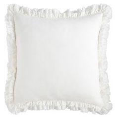 Sorrento White Ruffle Euro Pillow Sham