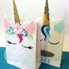 Custom Unicorn Bags - Bolsas personalizadas de Unicornio. #custom #stationery #bag #party #birthday #miami #canada #creativorubenchacon #golden #unicor #girl