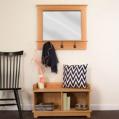 Makeover your mudroom or entryway with this stylish storage bench and matching wall-mounted mirror. Find the FREE project plans, along with many others, at buildsomething.com
