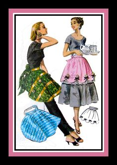 Vintage 1956HOSTESS PARTY APRONSSewing by FarfallaDesignStudio, $35.00