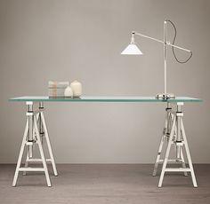 Industrial Sawhorse Desk
