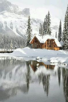 12 Beautiful Pictures on Incredible Places, Emerald Lake Lodge in Canadian Rocky Mountain (I would love to be in this cabin in the winter! Beautiful World, Beautiful Places, Beautiful Pictures, House Beautiful, Amazing Places, Beautiful Scenery, Beautiful Boys, Winter Wonderland, Snow Cabin