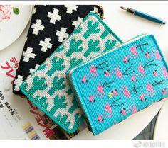 Crochet Book Cover, Crochet Pouch, Diy Crochet And Knitting, Crochet Books, Freeform Crochet, Filet Crochet, Tapestry Crochet Patterns, Crochet Purse Patterns, Crochet Handbags
